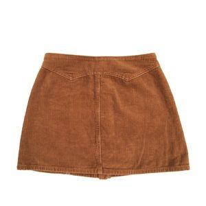 Kendall & Kylie Skirts - KENDALL & KYLIE Corduroy Tan Mini Button Skirt